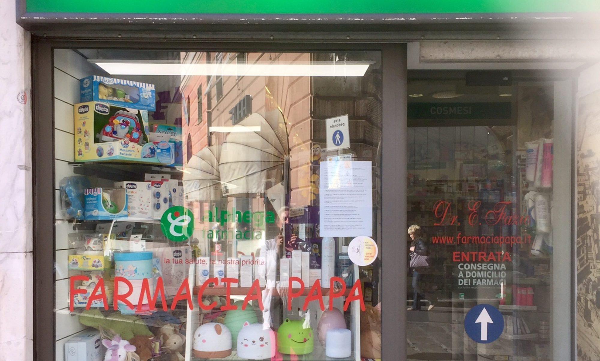 Farmacia Papa del Dr E. Fazio - Genova Tel.0104207320